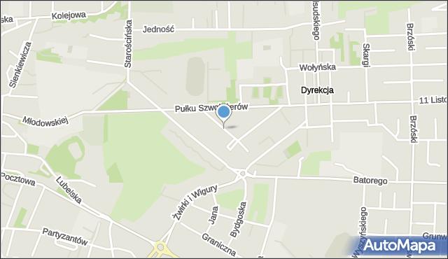 Chełm, Reymonta Władysława, mapa Chełma
