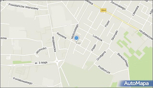 Chełm, Reytana Tadeusza, mapa Chełma