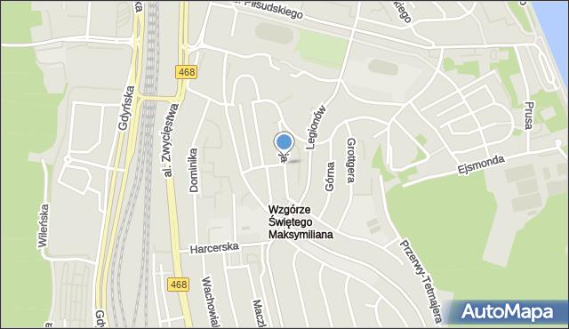 Gdynia, Reja Mikołaja, mapa Gdyni