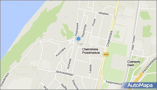 Grudziądz, Reymonta Władysława, mapa Grudziądza