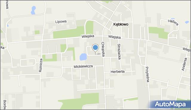 Kębłowo gmina Luzino, Reymonta Władysława, mapa Kębłowo gmina Luzino
