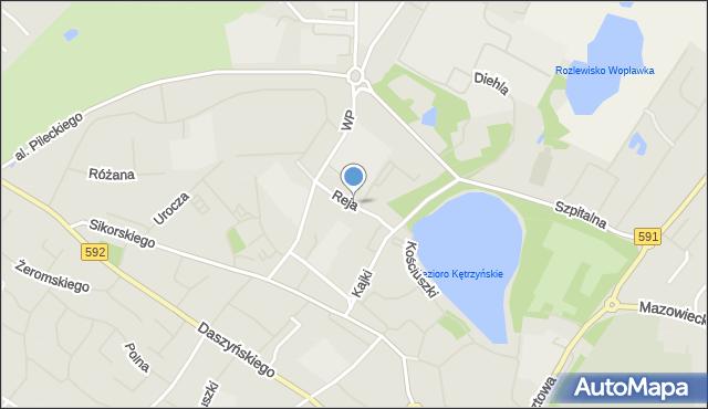 Kętrzyn, Reja Mikołaja, mapa Kętrzyn
