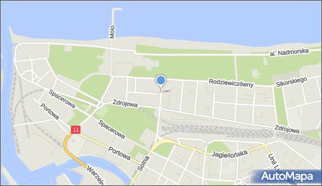 Kołobrzeg, Reymonta Władysława, mapa Kołobrzegu