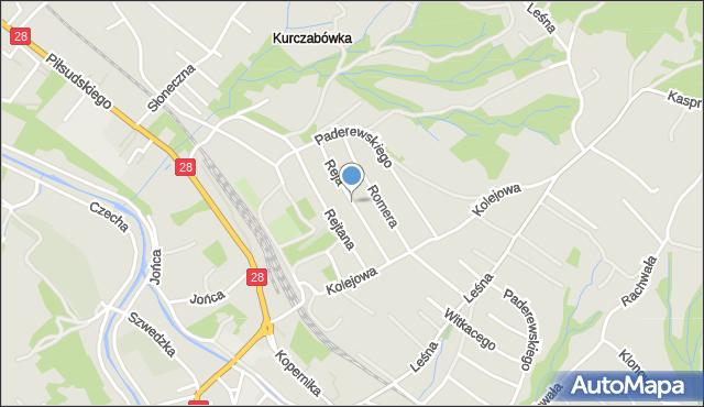 Limanowa, Reja Mikołaja, mapa Limanowa