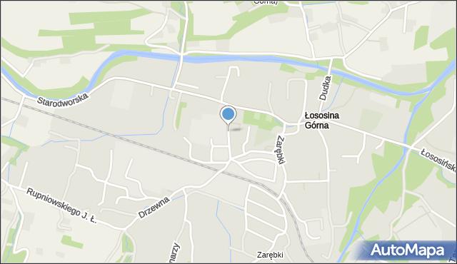 Limanowa, Reymonta Władysława, mapa Limanowa