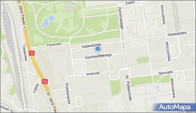 Łódź, Rembielińskiego Rajmunda, mapa Łodzi