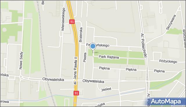 Łódź, Rejtana Tadeusza, mapa Łodzi