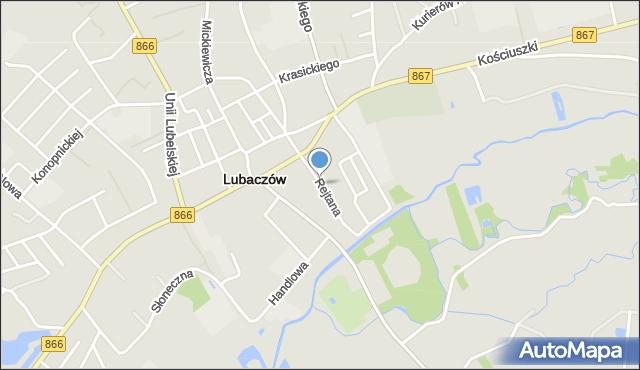 Lubaczów, Rejtana Tadeusza, mapa Lubaczów