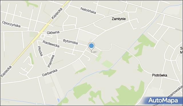 Radom, Redutowa, mapa Radomia