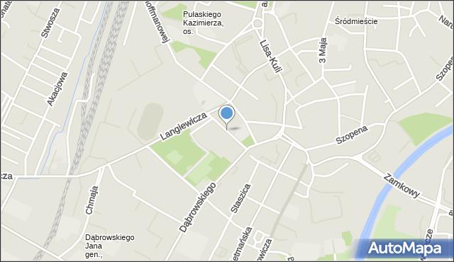 Rzeszów, Reformacka, mapa Rzeszów