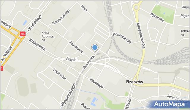 Rzeszów, Reymonta Władysława, mapa Rzeszów