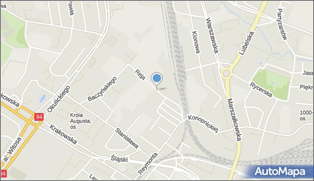 Rzeszów, Reja Mikołaja, mapa Rzeszów