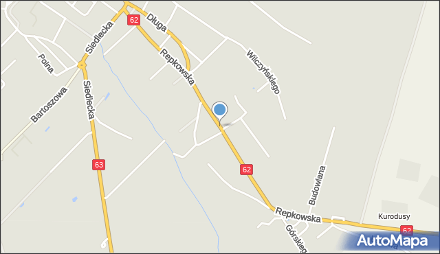 Sokołów Podlaski, Repkowska, mapa Sokołów Podlaski