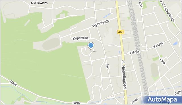 Sopot, Reymonta Władysława, mapa Sopotu