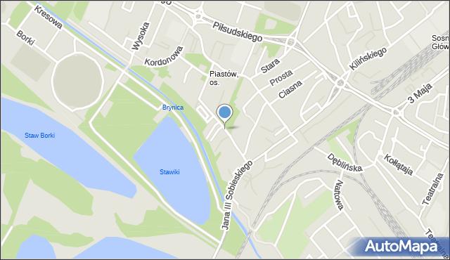 Sosnowiec, Regulacyjna, mapa Sosnowca