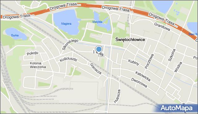 Świętochłowice, Reja Mikołaja, mapa Świętochłowice