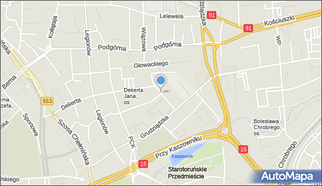 Toruń, Rejtana Tadeusza, mapa Torunia