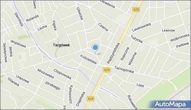Warszawa, Remontowa, mapa Warszawy