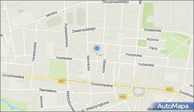 Warszawa, Rębkowska, mapa Warszawy