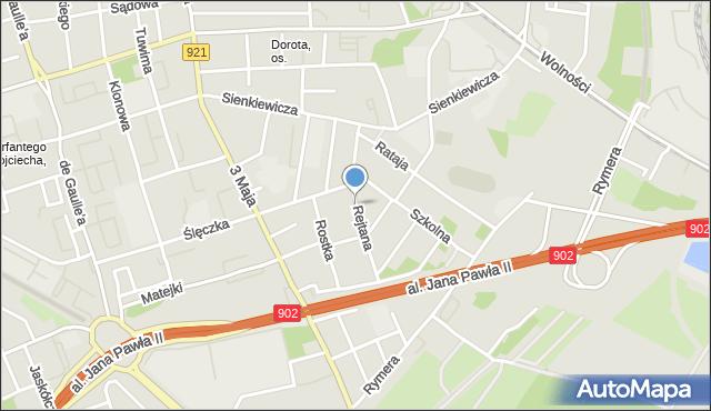 Zabrze, Rejtana Tadeusza, mapa Zabrza