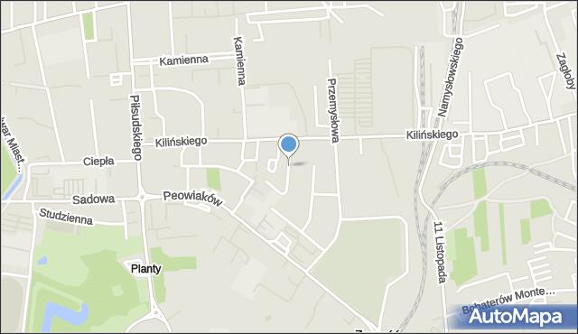 Zamość, Redutowa, mapa Zamościa