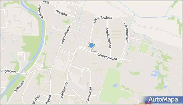 Andrychów, Rondo Ofiar Katynia, mapa Andrychów