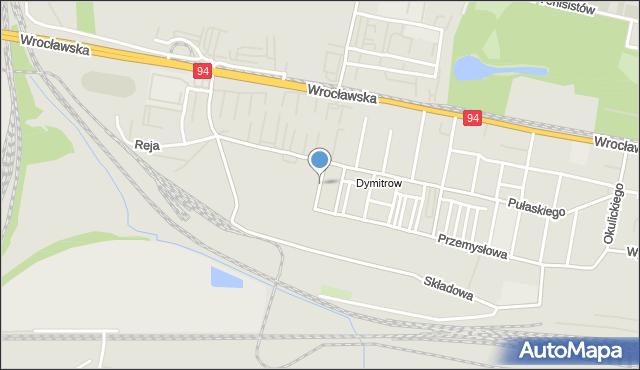 Bytom, Robotnicza, mapa Bytomia