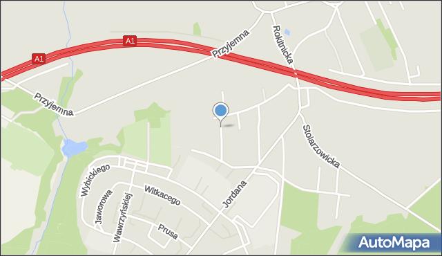 Bytom, Rokitnicka, mapa Bytomia