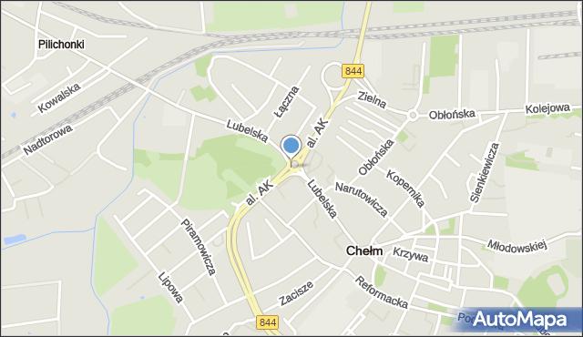 Chełm, Rondo Jana Pawła II, mapa Chełma