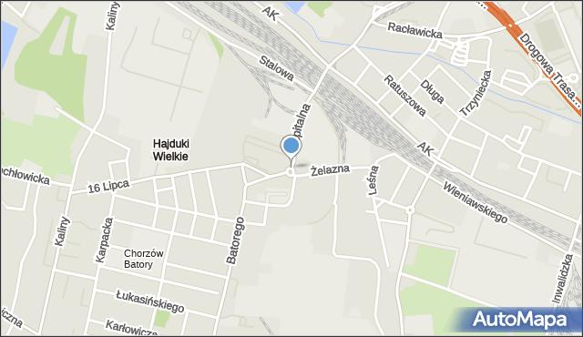 Chorzów, Rondo Cieślika Gerarda, mapa Chorzów