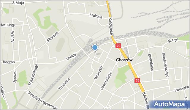 Chorzów, Rostka Józefa, dr., mapa Chorzów