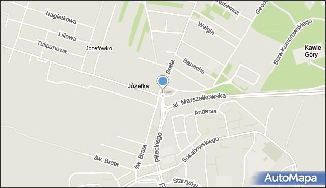 Częstochowa, Rondo Miklewskiego, rtm., mapa Częstochowy