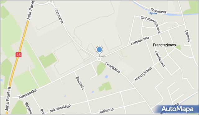 Grudziądz, Rondo Grabskiego Władysława, mapa Grudziądza