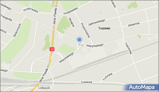 Grudziądz, Rondo Maczka Stanisława, gen., mapa Grudziądza