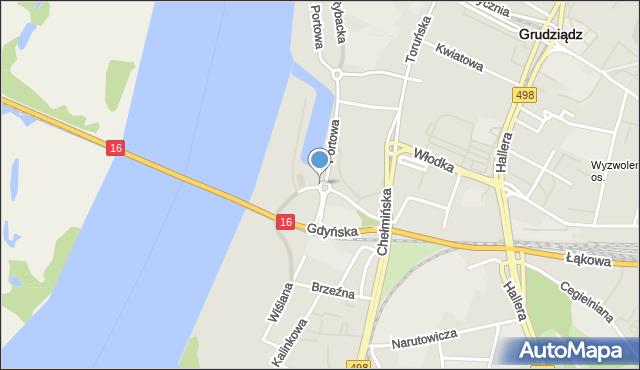 Grudziądz, Rondo Rydza-Śmigłego Edwarda, marsz., mapa Grudziądza