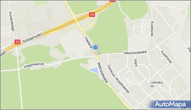 Grudziądz, Rondo Sosabowskiego Stanisława Franciszka, gen., mapa Grudziądza