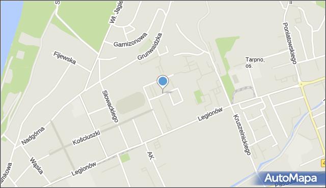 Grudziądz, Roty Grudziądzkiej, mapa Grudziądza