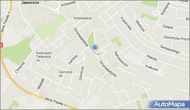 Jaworzno, Rondo NSZZ Solidarność, mapa Jaworzno