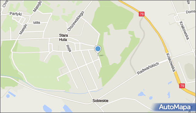 Jaworzno, Robotnicza, mapa Jaworzno