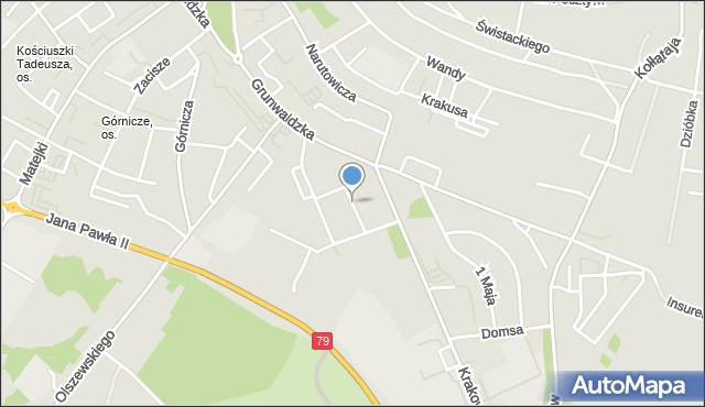 Jaworzno, Różana, mapa Jaworzno