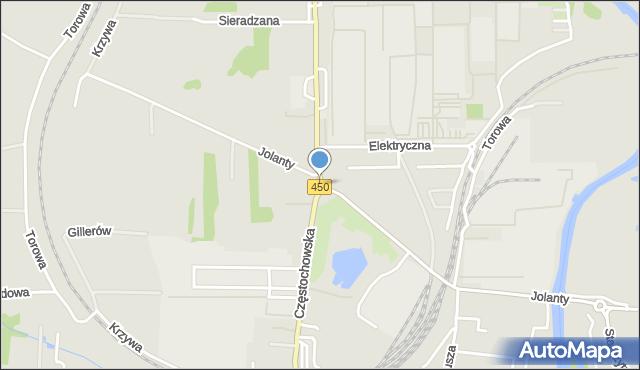 Kalisz, Rondo na Trakcie Wieluńskim, mapa Kalisza