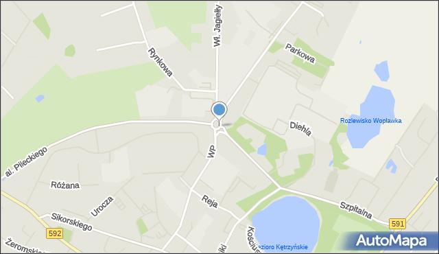 Kętrzyn, Rondo Kombatantów, mapa Kętrzyn