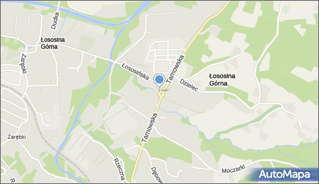 Limanowa, Rondo NSZZ Solidarność, mapa Limanowa