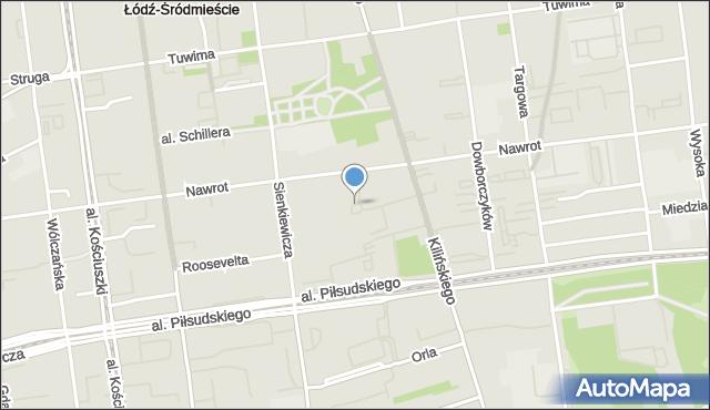 Łódź, Rondo Jezuitów, mapa Łodzi