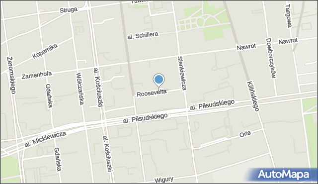 Łódź, Roosevelta Franklina Delano, mapa Łodzi
