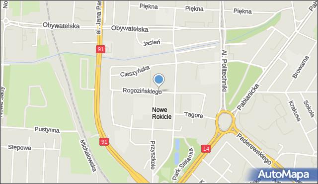 Łódź, Rogozińskiego Stefana, mapa Łodzi
