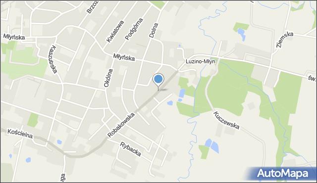 Luzino, Robakowska, mapa Luzino