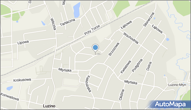Luzino, Robotnicza, mapa Luzino