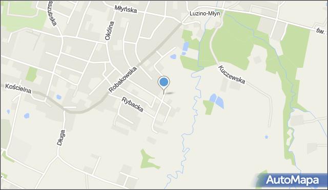 Luzino, Roppla Leona, mapa Luzino