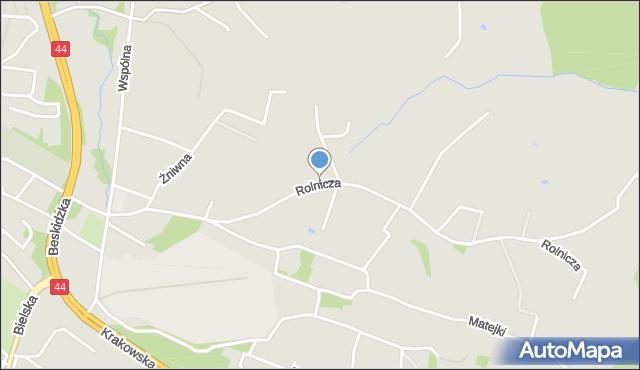 Mikołów, Rolnicza, mapa Mikołów
